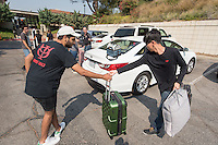 Occidental College's class of 2020 move in to the various residence halls during Orientation, Aug. 25, 2016.<br /> (Photo by Marc Campos, Occidental College Photographer)