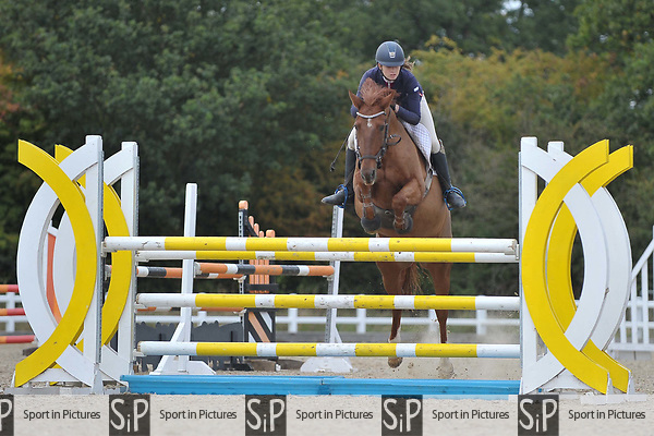 Class 5. Foxhunter. British showjumping juniors. Brook Farm training centre. Essex. 23/09/2017. MANDATORY Credit Garry Bowden/Sportinpictures - NO UNAUTHORISED USE - 07837 394578