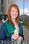 BRINGING HOME THE SILVERWARE: Arriving home to Tralee on Monday evening after their success trip to the International Children's Games in Lanarkshire, Scotland were Sarah Fitzgerald, Ardfert who won a gold medal in golf