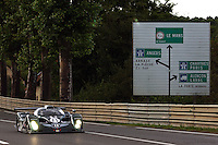 The Bentley EXP Speed 8 driven by Andy Wallace, Eric van de Poele and Butch Leitzinger on the Mulsanne Straight during the 2002 24 Hours of Le Mans.