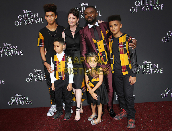 20 September 2016 - Hollywood, California - David Oyelowo, wife Jessica Oyelowo and their four children. &ldquo;Queen Of Katwe&rdquo; Los Angeles Premiere held at the El Capitan Theater in Hollywood. <br /> CAP/ADM<br /> &copy;ADM/Capital Pictures