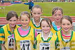 ON TRACK: Competing in the Community Games County Finals at An Riocht Track, Castleisland, last Saturday were, l-r: Karen Mangan, Niamh Walsh, Leanne Mangan, Tina Mangan, Kelly McCrohan and Maire Sheehan (all Knocknagoshel)..
