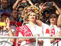 Polnischer Fan mit origineller Haarpracht - 19.06.2018: Polen vs. Senegal, Gruppe H, Spartak Stadium Moskau