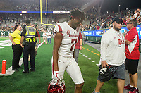 NWA Democrat-Gazette/BEN GOFF @NWABENGOFF<br /> Jonathan Nance, Arkansas wide receiver, leaves the field after a loss to Colorado State Saturday, Sept. 8, 2018, at Canvas Stadium in Fort Collins, Colo.
