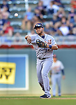 29 September 2012: Detroit Tigers shortstop Jhonny Peralta in action against the Minnesota Twins at Target Field in Minneapolis, MN. The Tigers defeated the Twins 6-4 in the second game of their 3-game series. Mandatory Credit: Ed Wolfstein Photo