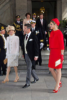 The royal christening of Crown Princess Victoria and Prince Daniel s daughter Princess Estelle Silvia Ewa Mary of Sweden, in the Royal Chapel in Stockholm, May 22, 2012.    Picture shows: Crown Prince Frederik of Denmark and Princess Maxima of the Netherlands. Photo: David Sica Code: 1002 COPYRIGHT STELLA PICTURES.Credit: Stella Pictures/face to face.- Germany, Austria, Switzerland and USA rights only - / Mediapunchinc