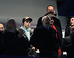 David and Brooklyn Beckham look on<br /> <br /> - UEFA Champions League - Chelsea vs Paris Saint Germain - Stamford Bridge - London - England - 9th March 2016 - Pic David Klein/Sportimage