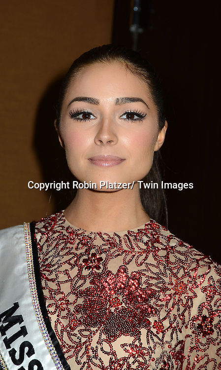 """Miss Universe Olivia Culpo attends the Elizabeth Glaser Pediatric Aids Foundation  with the inaugural  """"Global Champions of a Mother's Fight"""" Awards Dinner on February 20, 2013 at .the Mandarin Oriental Hotel in New York City."""
