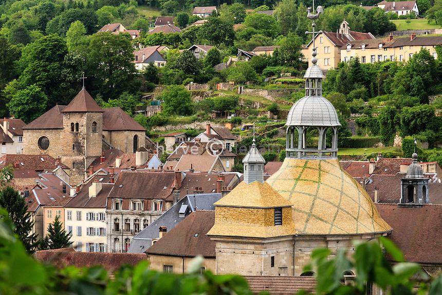 France, Jura (39), Salins-les-Bains, le dôme de la chapelle Notre-Dame-de-la-Libératrice // France, Jura, Salins les Bains, the dome of Notre Dame de la Liberatrice chapel