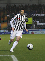 Lewis Guy in the St Mirren v Kilmarnock Clydesdale Bank Scottish Premier League match played at St Mirren Park, Paisley on 2.1.13.