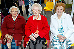 Ladies<br /> ---------<br /> L-R Bebe Long, Tilly O'Donnell and Eileen Moynihan at the annual mass for the residents of St Brendans park, Tralee last Friday evening.