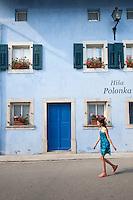 Kobarid (Caporetto in Italian) in Slovenia - street scenes