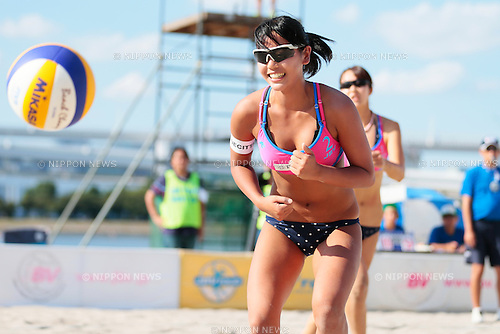 Kaho Sakaguchi, <br /> SEPTEMBER 20, 2015 - Beach Volleyball : <br /> JBV Tour 2015 Tokyo Open <br /> at Odaiba Beach, Tokyo, Japan. <br /> (Photo by AFLO SPORT)