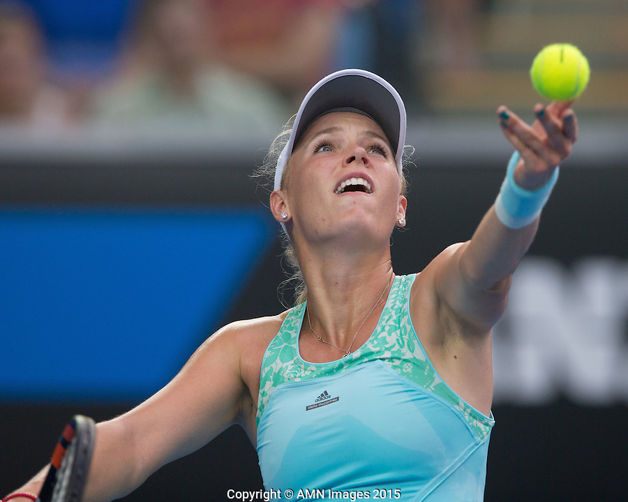 Caroline Wozniacki (DEN)<br /> <br /> Tennis - Australian Open 2015 - Grand Slam -  Melbourne Park - Melbourne - Victoria - Australia  - 22 January 2015. <br /> &copy; AMN IMAGES