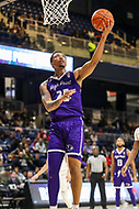 Washington, DC - December 22, 2018: High Point Panthers forward Ricky Madison (25) looks to make a layup during the DC Hoops Fest between Hampton and Howard at  Entertainment and Sports Arena in Washington, DC.   (Photo by Elliott Brown/Media Images International)