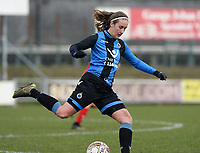 20180127 - AALTER , BELGIUM : Brugge's Ellen Martens pictured during the quarter final of Belgian cup 2018 , a womensoccer game between Club Brugge Dames and Standard Femina de Liege , in Aalter , saturday 27 th January 2018 . PHOTO SPORTPIX.BE | DAVID CATRY