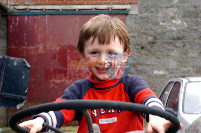 Bobby McCabe at the Easter egg hunt in New Grange Farm.Picture Fran Caffrey Newsfile