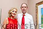 Bernard Cassidy and Siobhán McCarthy taking part in the Ballymac Strictly Love dancing in the Ballygarry House Hotel on Saturday.