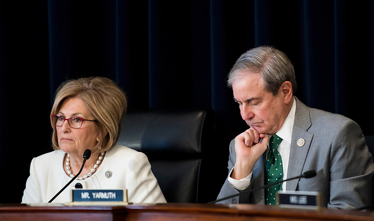 UNITED STATES - MARCH 16: Chairwoman Diane Black , R-Tenn., and ranking member John Yarmuth, D-Ky., participate in the House Budget Committee markup hearing on the GOP health care reconciliation legislation on Thursday, March 16, 2017. (Photo By Bill Clark/CQ Roll Call)