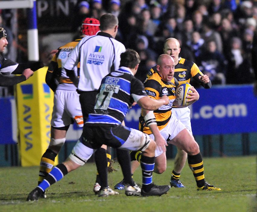 Photo: Tony Oudot/Richard Lane Photography. Bath Rugby v London Wasps. Aviva Premiership. 27/11/2010. .Joe Ward of Wasps.