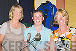 GOLFERS: Catherine Mitchell, Angela Enright and Mary Quillinan who played in the Ardfetrt lady president prize golf at Ardfert Golf Club on Saturday..