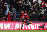 Junior Stanislas of Bournemouth celebrates putting Bournemouth in front during the Premier League match between Bournemouth v West Bromwich Albion played at Vitality Stadium, Bournemouth United Kingdom  on 17 Mar 2018