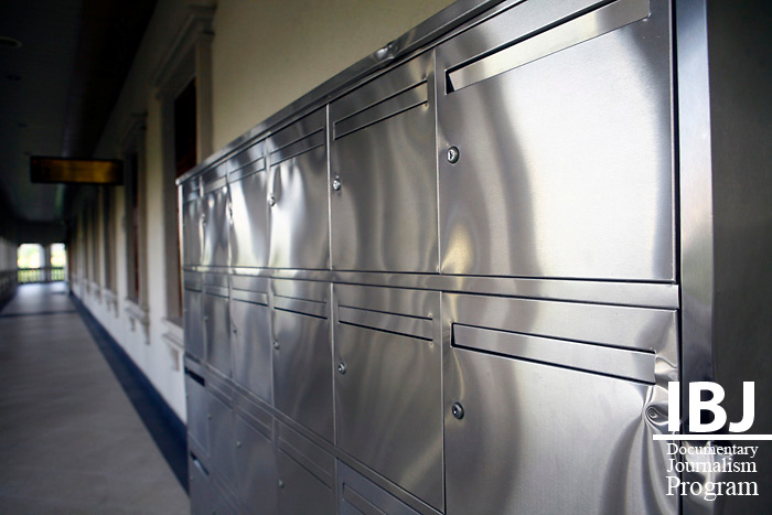 Damaged locker in the corridor of the Kuala Lumpur Court for Children