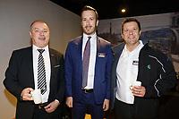 Pictured: Jonathan Wilsher (L). Thursday 17 October 2019<br /> Re: Swansea City AFC, City Business Network event at the Liberty Stadium, Wales, UK.