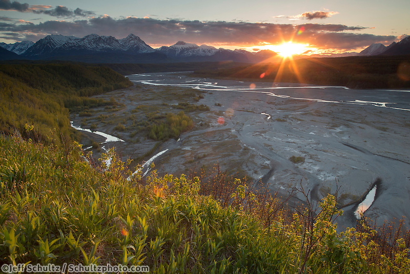 Spring Landscape in Matanuska Valley early morning  Spring Southcentral, Alaska <br /> <br /> Photo by Jeff Schultz (C) 2016  ALL RIGHTS RESERVED