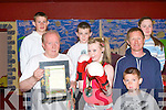 Member's of the Cashen Vale boxing club with National Irish Champion Naomi O'Brien in Ballybunion on Monday pictured Wayne Jones, Sean Mulvihill, Niamh Ball, Paddy Enright (trainer), Naomi O'Brien, Gavin Ball (trainer) and Mikey Jones.