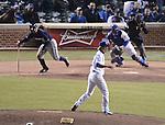 (L-R) Norichika Aoki (Brewers), Kyuji Fujikawa (Cubs),.APRIL 9, 2013 - MLB :.Pitcher Kyuji Fujikawa of the Chicago Cubs and Norichika Aoki of the Milwaukee Brewers during the baseball game at Wrigley Field in Chicago, Illinois, United States. (Photo by AFLO)