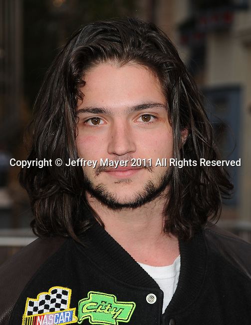 """ANAHEIM, CA - MAY 07: Thomas McDonell arrives to the """"Pirates Of The Caribbean: On Stranger Tides"""" World Premiere at Disneyland on May 7, 2011 in Anaheim, California."""