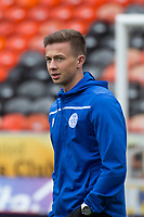 16th November 2019; Tannadice Park, Dundee, Scotland; Scottish Championship Football, Dundee United versus Queen of the South; Ewan Gourlay of Queen of the South inspects the pitch before the match - Editorial Use