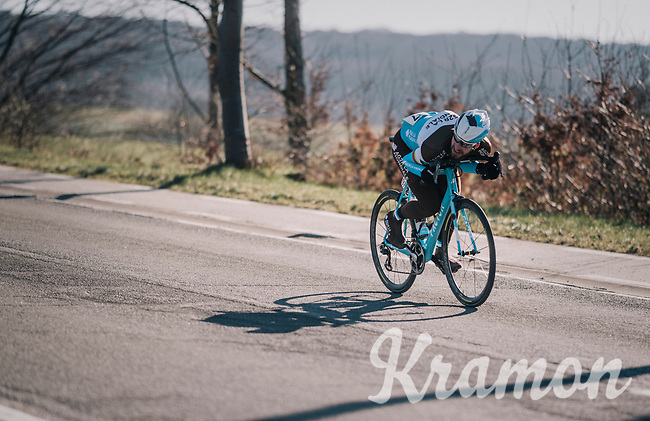 Gediminas Bagdonas (LTU/AG2R) tucked for speed<br /> <br /> 70th Kuurne-Brussel-Kuurne 2018<br /> Kuurne › Kuurne: 200km (BELGIUM)