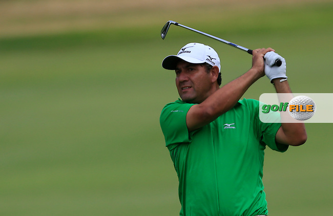 Ricardo Gonzalez (ARG) on the 15th during Round 2 of the ISPS HANDA Perth International at the Lake Karrinyup Country Club on Friday 24rd October 2014.<br /> Picture:  Thos Caffrey / www.golffile.ie