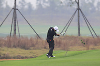 Felipe Aguilar (CHI) plays his 2nd shot on the 2nd hole during Thursday's Round 1 of the 2014 BMW Masters held at Lake Malaren, Shanghai, China 30th October 2014.<br /> Picture: Eoin Clarke www.golffile.ie