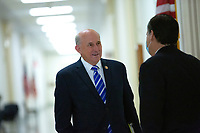 United States Representative Louie Gohmert (Representative of Texas), left, speaks to Jonathan Turley, Law Professor at George Washington University Law School, as he arrives to testify before the United States House Natural Resources Committee at the United States Capitol in Washington D.C., U.S., on Monday, June 29, 2020.  Credit: Stefani Reynolds / CNP /MediaPunch