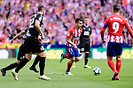 Angel Correa of Atletico de Madrid (C) in action during the La Liga match between Atletico Madrid and Eibar at Wanda Metropolitano Stadium on May 20, 2018 in Madrid, Spain. Photo by Diego Souto / Power Sport Images