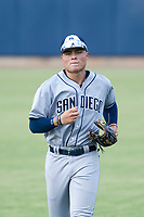 AZL Padres 2 center fielder Tirso Ornelas (33) jogs off the field between innings of the game against the AZL Brewers on September 2, 2017 at Maryvale Baseball Park in Phoenix, Arizona. AZL Brewers defeated the AZL Padres 2 2-0. (Zachary Lucy/Four Seam Images)