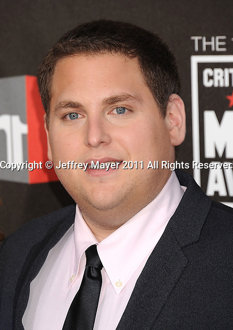 HOLLYWOOD, CA - January 14: Jonah Hill  arrives at the 16th Annual Critics' Choice Movie Awards at the Hollywood Palladium on January 14, 2011 in Hollywood, California.