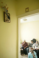 Turkish family in an apartment in Istanbul, Turkey