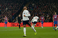 23rd November 2019; Selhurst Park, London, England; English Premier League Football, Crystal Palace versus Liverpool; Alex Oxlade-Chamberlain of Liverpool celebrates the goal by Sadio Mane for 0-1 in the 42nd minute - Strictly Editorial Use Only. No use with unauthorized audio, video, data, fixture lists, club/league logos or 'live' services. Online in-match use limited to 120 images, no video emulation. No use in betting, games or single club/league/player publications