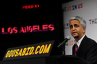 U.S. Soccer President and USA Bid Committee Chairman Sunil Gulati announces Los Angeles as one of the 18 cities to be submitted to FIFA as part of the bid to host the 2018 or 2022 FIFA World Cup at the ESPN Zone in Times Square, NYC, NY, on January 12, 2010.