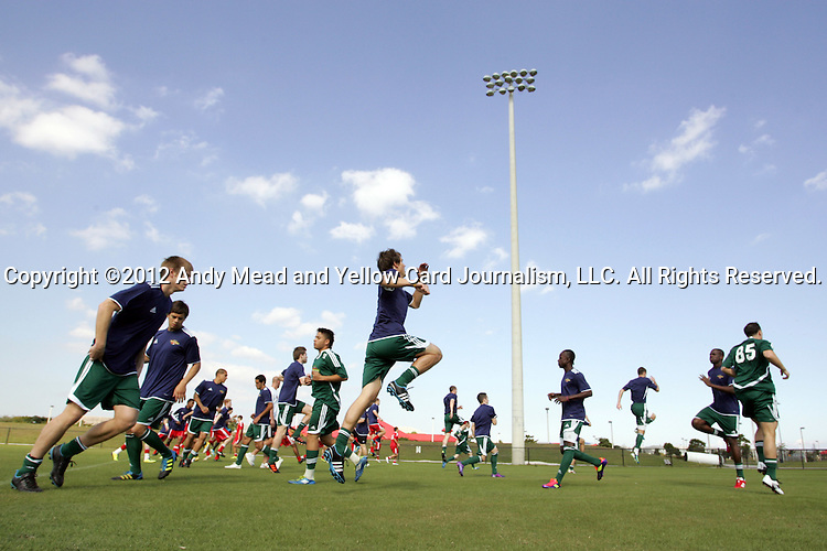 06 January 2012: The 2012 MLS Player Combine was held on the cricket oval at Central Broward Regional Park in Lauderhill, Florida.
