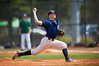 Southern Maine Huskies relief pitcher Colton Lawrence (32) delivers a pitch during a game against the Dartmouth Big Green on March 23, 2017 at Lake Myrtle Park in Auburndale, Florida.  Dartmouth defeated Southern Maine 9-1.  (Mike Janes/Four Seam Images)