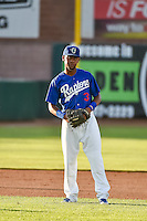 Deion Ulmer (3) of the Ogden Raptors during the game against the Idaho Falls Chukars in Pioneer League action at Lindquist Field on June 22, 2015 in Ogden, Utah. The Chukars defeated the Raptors 4-3 in 11 innings. (Stephen Smith/Four Seam Images)