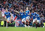 Rangers celebrate winning the penalty shootout