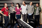 Duke New Music Ensemble, from left, Ken Stewart, Ben Daniels, Sarah Griffin, Tim Hambourger, Jamie Keesecker and Vladimir Smirnov, Durham, North Carolina, Monday, Nov. 5, 2012.