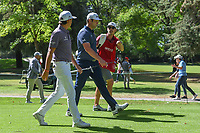 Rickie Fowler (USA) and Jon Rahm (ESP) head down 7 during round 1 of the World Golf Championships, Mexico, Club De Golf Chapultepec, Mexico City, Mexico. 2/21/2019.<br /> Picture: Golffile | Ken Murray<br /> <br /> <br /> All photo usage must carry mandatory copyright credit (© Golffile | Ken Murray)