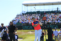 Jordan Spieth (USA) tees off the 17th tee during Thursday's Round 1 of the 118th U.S. Open Championship 2018, held at Shinnecock Hills Club, Southampton, New Jersey, USA. 14th June 2018.<br /> Picture: Eoin Clarke | Golffile<br /> <br /> <br /> All photos usage must carry mandatory copyright credit (&copy; Golffile | Eoin Clarke)